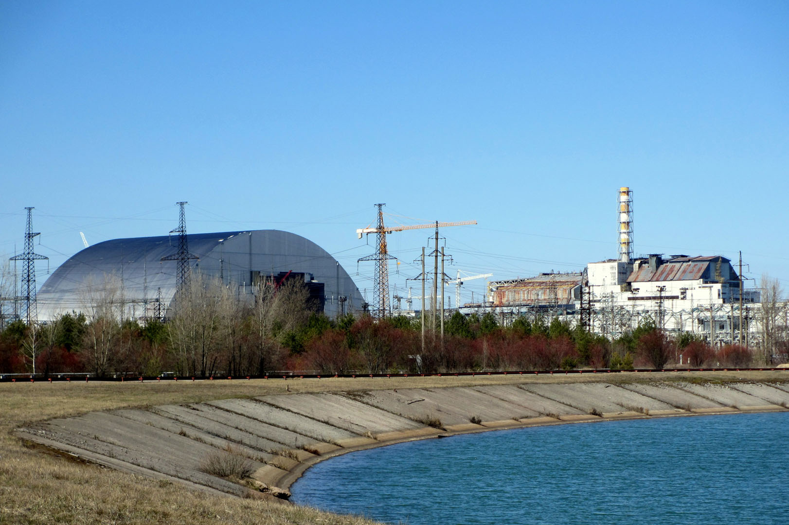 Sarcophagus over the Nuclear Power Plant in Chernobyl