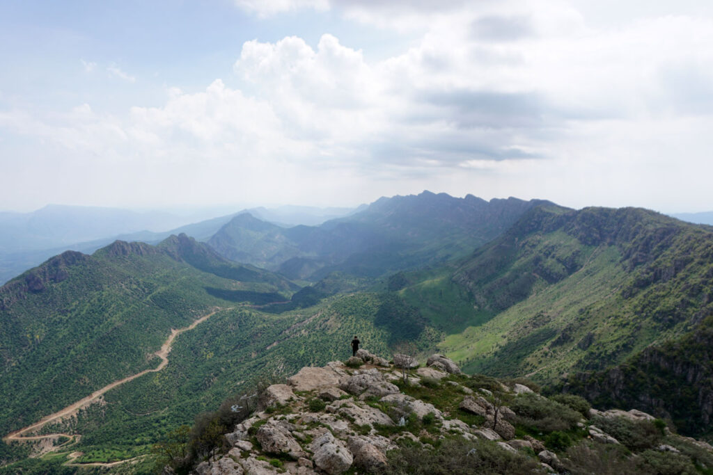 View in Rawanduz, the mountain area of Kurdistan, Iraq