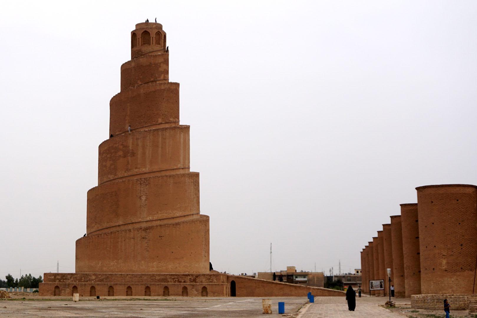Minaret and mosque of Samarra in Iraq