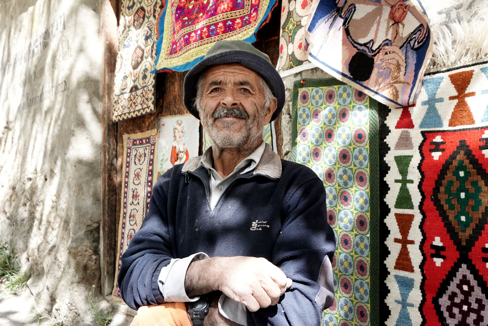 Local sales man in the Hunza Valley in Pakistan
